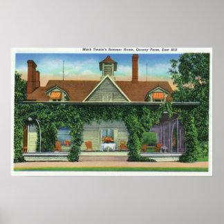 La casa de verano de Mark Twain, granja de la mina Póster