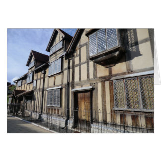 La casa de William Shakespeare, Stratford sobre Tarjetón