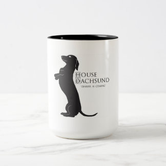 """La casa del Dachshund """"cena es"""" taza de café que"""