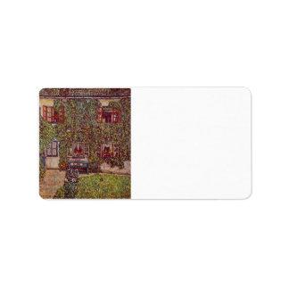 La casa del guardia de Gustavo Klimt Etiqueta De Dirección