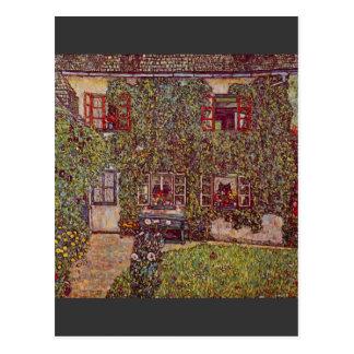 La casa del guardia de Gustavo Klimt Tarjeta Postal