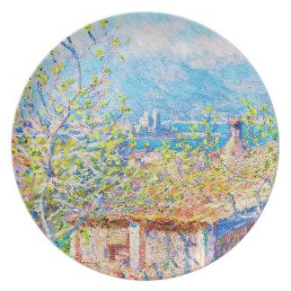 La casa del jardinero en Antibes Claude Monet Plato