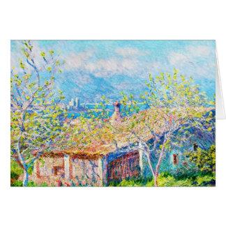 La casa del jardinero en Antibes Claude Monet Tarjeta Pequeña