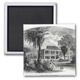 La casa del plantador en el Mississippi Imán Cuadrado