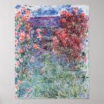 La casa en Giverny debajo de los rosas, 1925 Poster