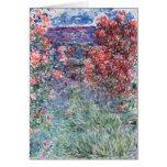 La casa en Giverny debajo de los rosas, 1925 Felicitacion