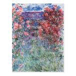 La casa en Giverny debajo de los rosas, 1925 Postal