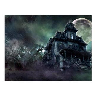 La casa encantada paranormal tarjeta postal