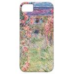 La casa entre los rosas, Claude Monet iPhone 5 Protectores