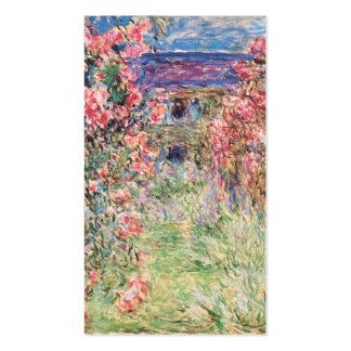 La casa entre los rosas, Claude Monet Plantillas De Tarjetas Personales