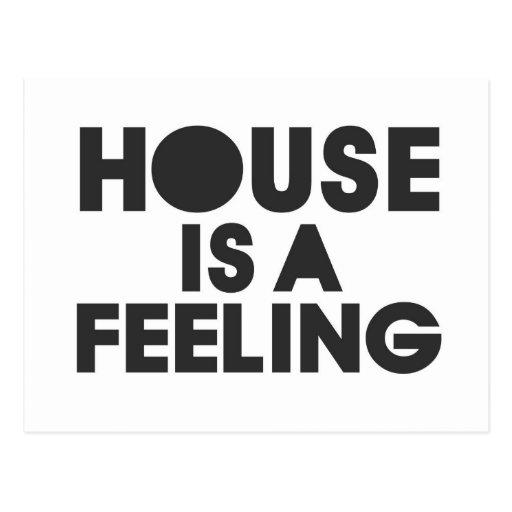 La casa es una sensación postal