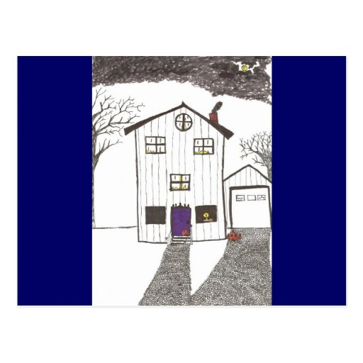 La casa fantasmagórica postal