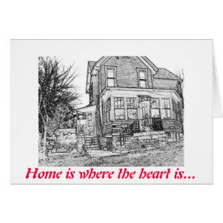 La casa feliz de Zazzle, hogar es donde está el Tarjeta De Felicitación