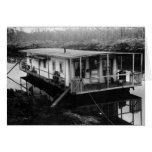 La casa flotante del ingeniero, la Florida Evergla Tarjeta