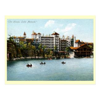 La casa lago Mohonk vintage 1910 de NY Tarjetas Postales