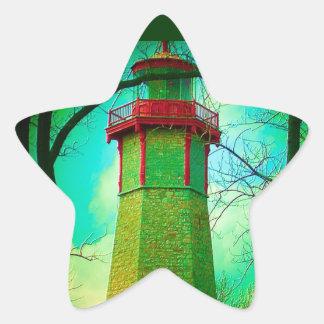 La CASA LIGERA más vieja en la isla del centro de Pegatina En Forma De Estrella