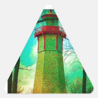La CASA LIGERA más vieja en la isla del centro de Pegatina Triangular