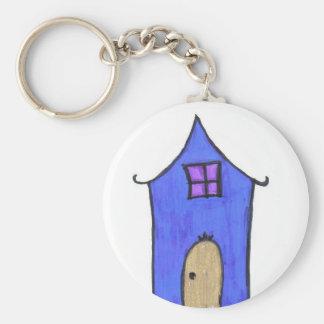 La casa mágica llavero redondo tipo pin