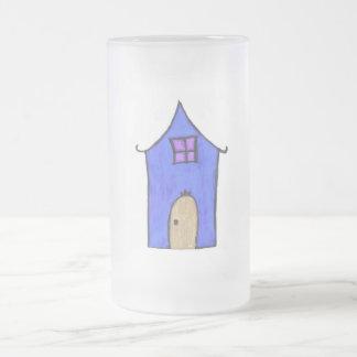 La casa mágica taza de cristal