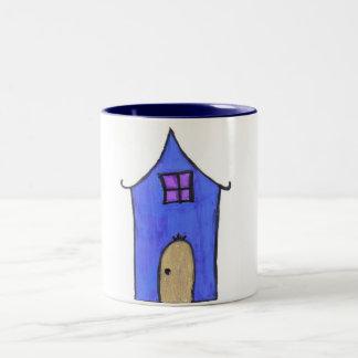 La casa mágica taza de dos tonos