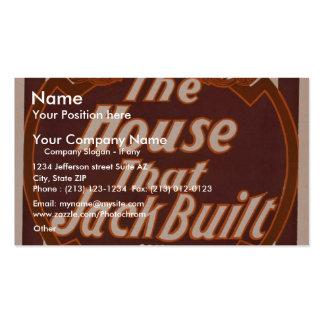 """La casa que Jack construyó, el Th retro de """"Broadh Plantillas De Tarjeta De Negocio"""