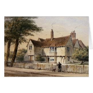 La casa rectoral, extremos de Newington, 1852 Tarjeta De Felicitación