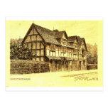 La casa Stratford de Shakespeare en Avon Tarjetas Postales