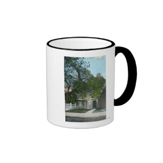 La casa vieja de la bruja, entrada principal taza de café
