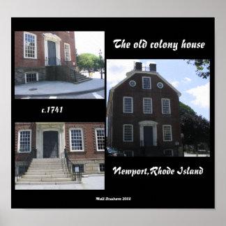 La casa vieja de la colonia impresiones