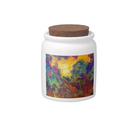 La casa vista de la rosaleda Claude Monet Platos Para Caramelos