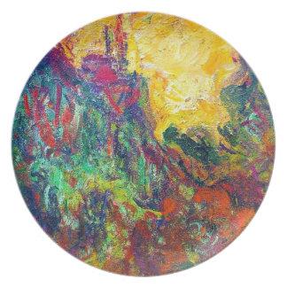 La casa vista de la rosaleda Claude Monet Plato