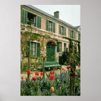 La casa y jardín, Giverny, franco septentrional de Póster