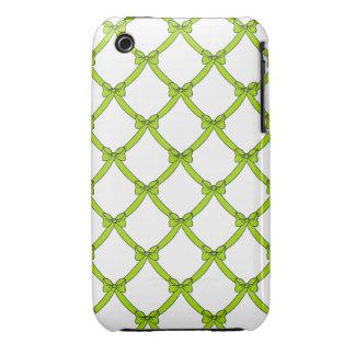 la casamata #1 bows_green iPhone 3 Case-Mate funda