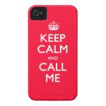 la casamata del iPhone 4/4S guarda calma y me llam Case-Mate iPhone 4 Carcasa