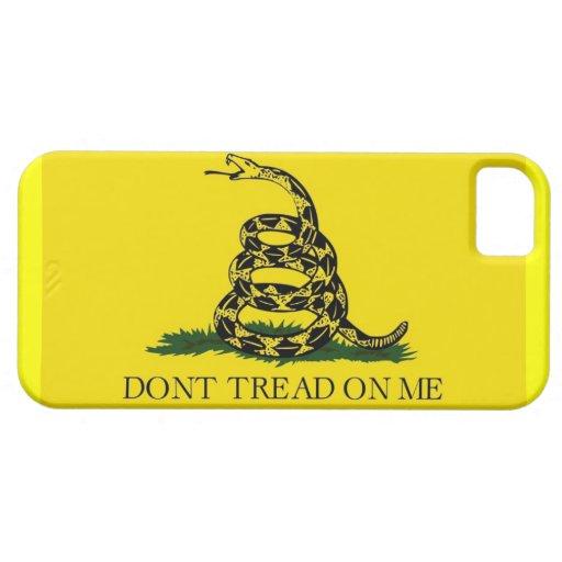 la casamata del iphone 5 con la bandera de Gadsden iPhone 5 Case-Mate Carcasas