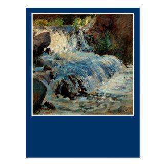 La cascada de John Henry Twachtman Postales