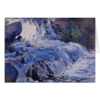 La cascada de John Henry Twachtman Tarjeta De Felicitación