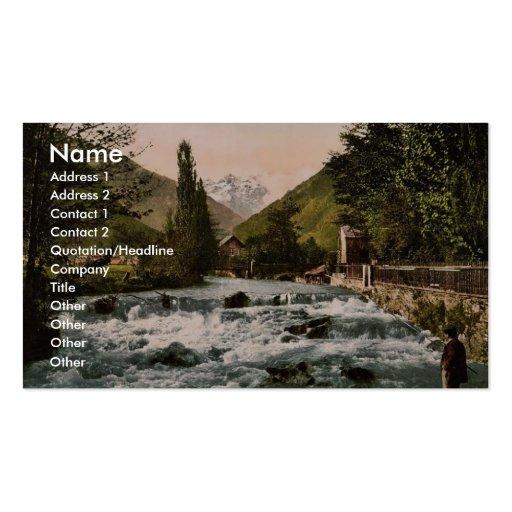 La cascada del piqué, Luchon, clas de los Pirineos Tarjetas De Visita