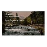 La cascada del piqué, Luchon, clas de los Pirineos Plantillas De Tarjetas De Visita