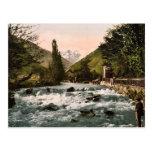 La cascada del piqué, Luchon, clas de los Pirineos Postal