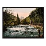 La cascada del piqué, Luchon, clas de los Pirineos Postales
