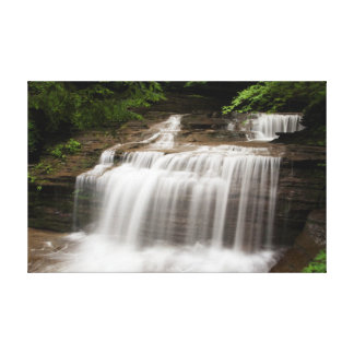 La cascada en suero cae parque de estado, Nueva Lienzo Envuelto Para Galerías