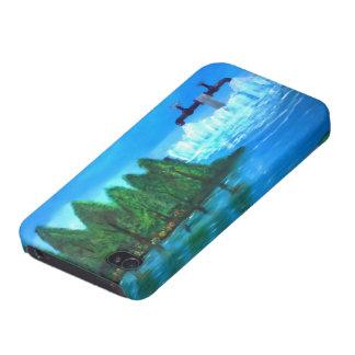La cascada impar iPhone 4 protectores