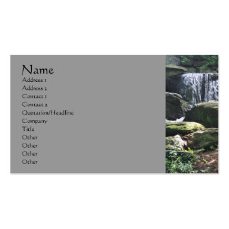 La cascada oscila la tarjeta de visita de la fotog