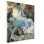 La cascada por Twachtman, impresionismo del vintag