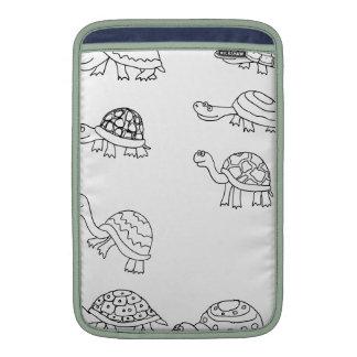 la cáscara animal de la tortuga personaliza funda para macbook air