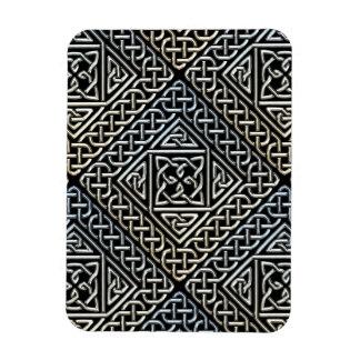 La casilla negra de plata forma el modelo de imanes rectangulares