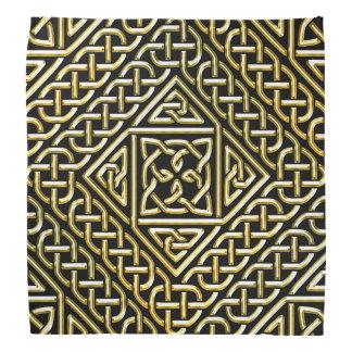 La casilla negra del oro forma el modelo de bandanas