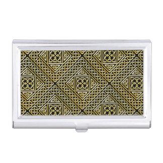La casilla negra del oro forma el modelo de cajas de tarjetas de presentación