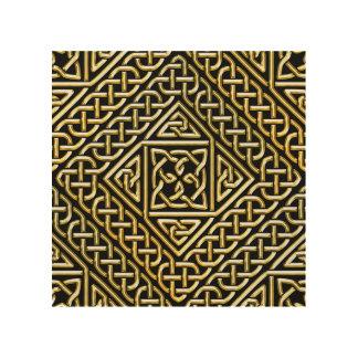 La casilla negra del oro forma el modelo de cuadro de madera